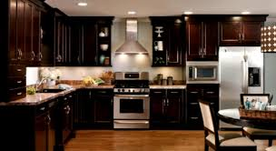 home kitchen design with modern kitchen appliances and granite