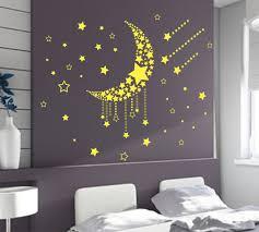 large moon stars wall art vinyl stickers diy bedroom wall decal large moon stars wall art vinyl stickers diy bedroom wall decal