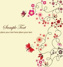 free vector floral greeting card free vector in encapsulated