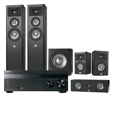 home theater speaker systems sony str dh550 5 2 channel 4k receiver w jbl studio 5 1 home
