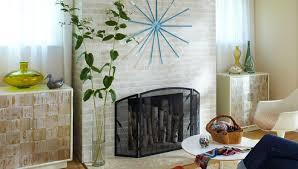 How To Resurface A Brick Fireplace by Painted Fireplace Makeover