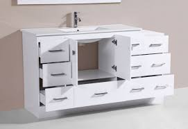 Over  Redondo White Double Modern Bathroom Vanity With - Bathroom vaniy 2