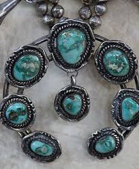 turquoise necklace set images Savvy collector sterling squash blossom necklace set with jpg