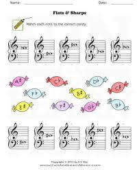 music worksheet categories accidentals