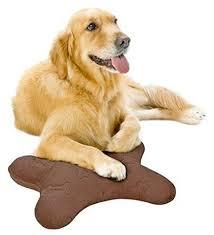 Simmons Dog Bone Shape Pillow Chocolate Brown image to