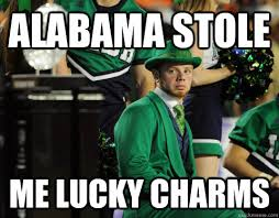 Lucky Charms Meme - alabama stole me lucky charms depressed nd quickmeme