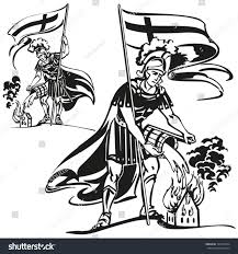 st florian themes brush drawingbased vector stock vector 137565254
