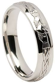 the wedding ring shop dublin sterling silver claddagh celtic wedding band at claddaghrings