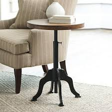 Iron Side Table Brown And Black Side Table