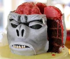 Nerdy Nummies Halloween Cakes Monkey Brain Cake 8 Steps With Pictures