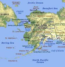 map usa oceans alaska map