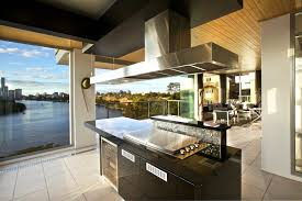 cool and cutting edge flat range hood style over super modern