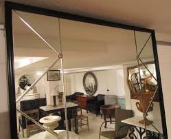 a trellis panelled mirror in mirrors
