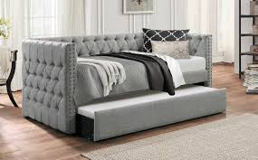 dhp sophia upholstered daybed with trundle hayneedle with daybed