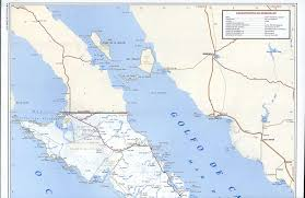 Mexico State Map by Baja California Sur Road Mapfree Maps Of Central America