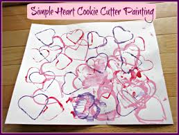 cookie cutter heart crafts for kids sunshine whispers