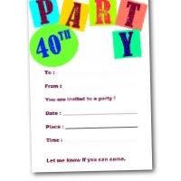 40th birthday invitations free printable party invites