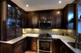 glass backsplash tile ideas for kitchen kitchen back splash brown espresso kitchen cabinets with brown