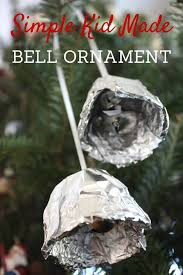 tin foil bell ornament polar express craft