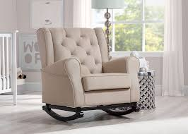 Black Rocking Chair For Nursery Bed Bath Awesome Linen Upholstered Tufted Rocking Chair With