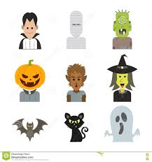 Halloween Monster Costume by Vector Icon Character Illustration Of Halloween Monster Costume