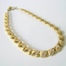 volkswagen vintage square body monet necklace vintage gold tone square link necklace