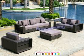 All Weather Wicker Loveseat Modern Line Furniture Commercial Furniture Custom Made