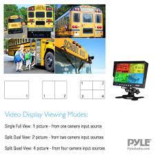 pyle plcmtr74 weatherproof rearview backup camera u0026 monitor
