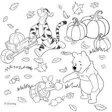 winnie pooh friends fall coloring disney family