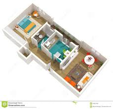 25 one bedroom houseapartment plans 3d house interior designs open