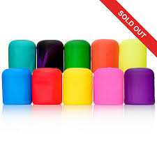 moodies set of 10 assorted color cfl led light bulb covers