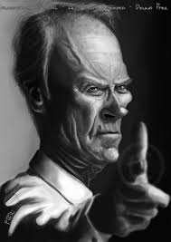 clint eastwood caricature by dennis pfeil