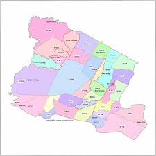 Map Of Hudson County Nj Newark Zip Code Boundary Map