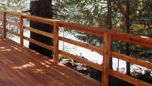 100s of deck railing ideas and designs horizontal wood stair