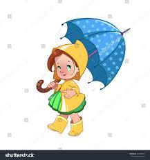 Clip Umbrella Cute Little Umbrella Raincoat Rubber Stock Vector 242700673