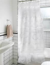 Ruffled Shower Curtains Primadonna Shower Curtain White Ruffle Shower Curtain