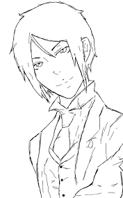 sebastian michaelis outline will add color by crimsonfange on
