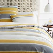 Red And Yellow Duvet Covers Bedroom Pixelate Grey And Yellow Patterned Jacquard Double Duvet