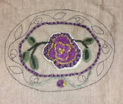 Purple Flower Rug Anita Hooks Rugs A Wonderful Week In Pennsylvania And New Jersey