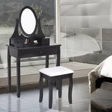 Black Vanity Table Linon Alessandra Black Vanity Table With Mirror U0026 Stool Free