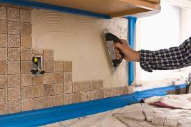 how a tile backsplash meets with a granite counter top hunker