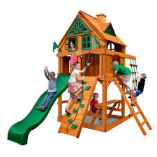 gorilla playsets chateau tower treehouse with fort add on and