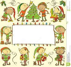 elf decorating christmas tree royalty free stock image image