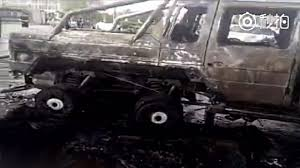 mansory mercedes g63 mansory g63 amg 6x6 completely burns after minor accident in china