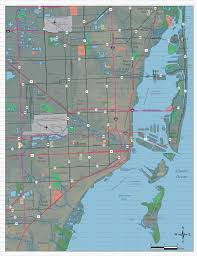 Miami City Map by Editable Miami Map With City And Zip Code Borders Illustrator