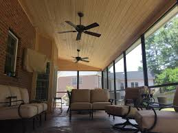 new 12x32 screen porch with a 1x6 t u0026g spruce ceiling with recessed
