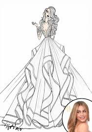 exclusive designers sketch wedding gowns for lady gaga u0026 more