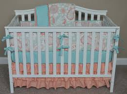 Aqua And Grey Crib Bedding Gray And Mint Quatrefoil Crib Bedding Carousel Designs