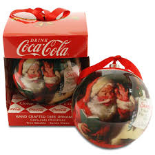Coca Cola Christmas Ornaments - coca cola hand crafted christmas tree ornament amazon co uk