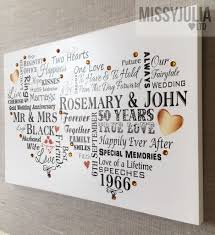 50 year wedding anniversary wedding anniversary gift 50 years personalised gold plaque sign w261